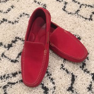 14th & Union red driving loafers size 11.5